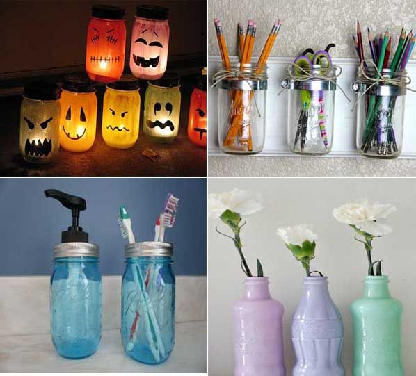 ideas creativas para reciclar y decorar con tarros de cristal