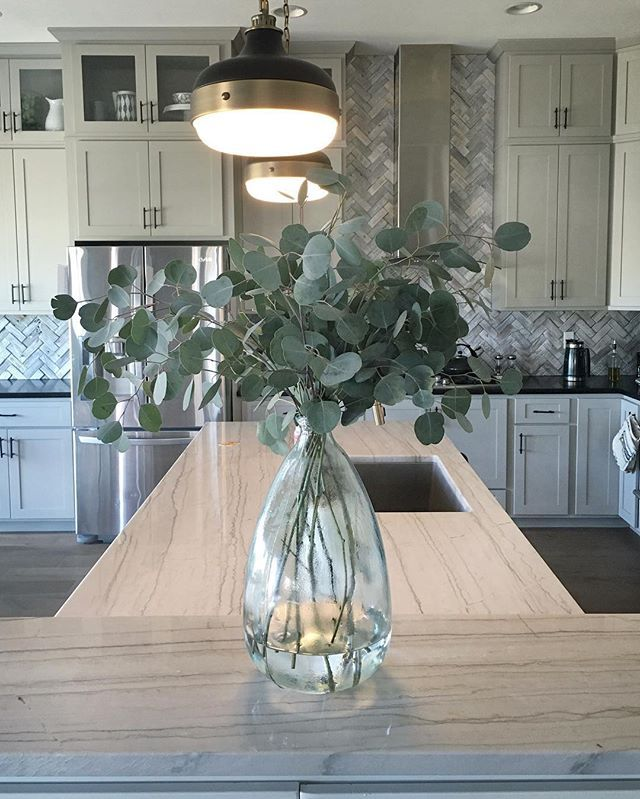 Table Centerpieces For Home: Eucalyptus Is One Of My Favorite Cheap Vase Fillers. $5