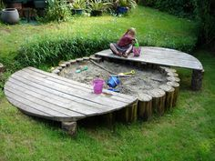 An amazing sandbox for the kids...Playground Build & Design   Natural Child Play   Earth Wrights Ltd
