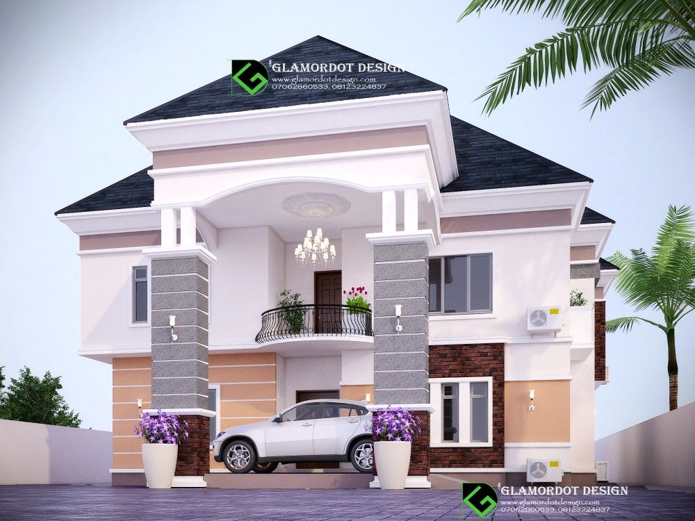 Traditional 4 Bedroom Duplex Design Nigeria Duplex Design Duplex House Design Residential Building Design