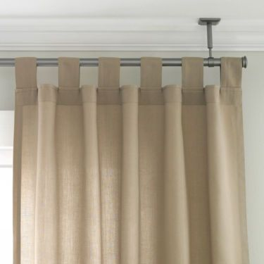 Downstairs Apartment Studio Ceiling Mount Curtain Rod Set