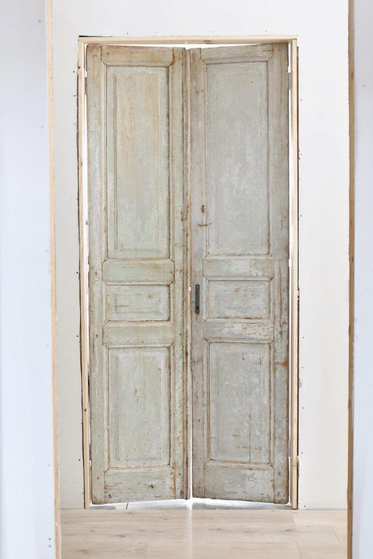 Vintage French Doors with Patina. #polebarn #polebarnhome #newbuild #camitidbits