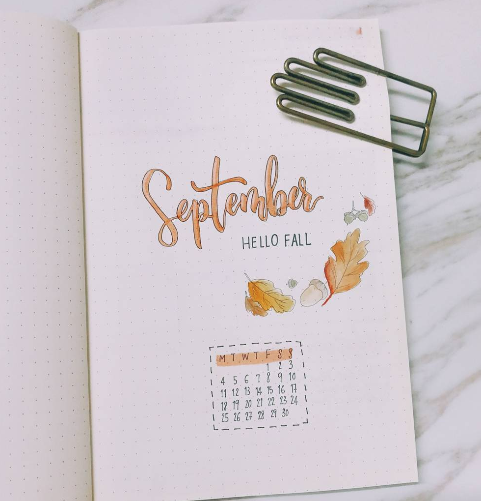 September Bullet Journal Spread Ideas — Sweet PlanIt #septemberbulletjournalcover