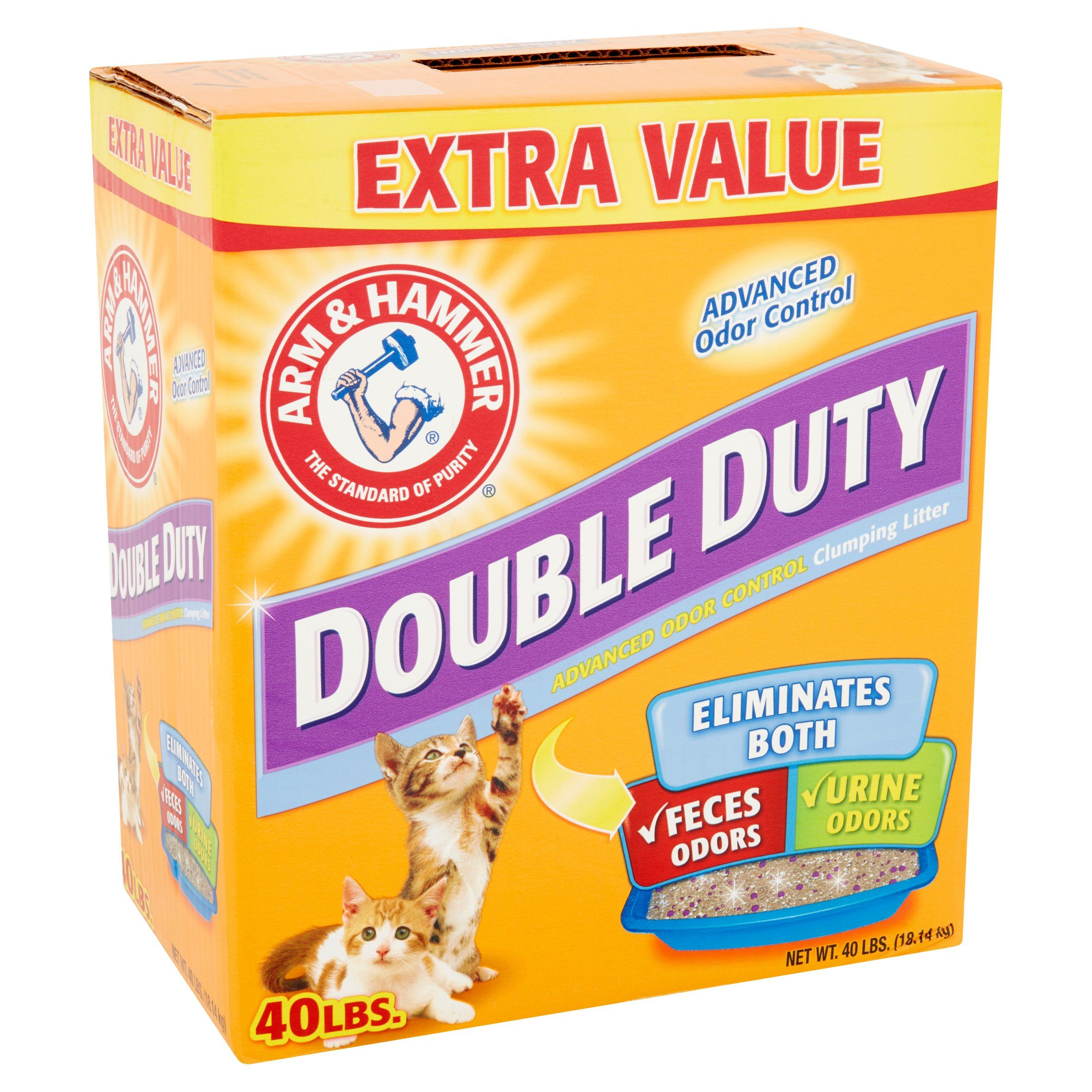 Arm & Hammer Double Duty Advanced Odor Control Clumping Litter 40lbs