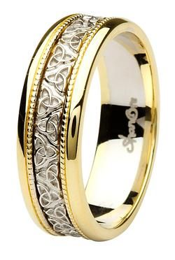 Shanore Aishlin Yellow Gold Collection Men S Celtic Wedding Band
