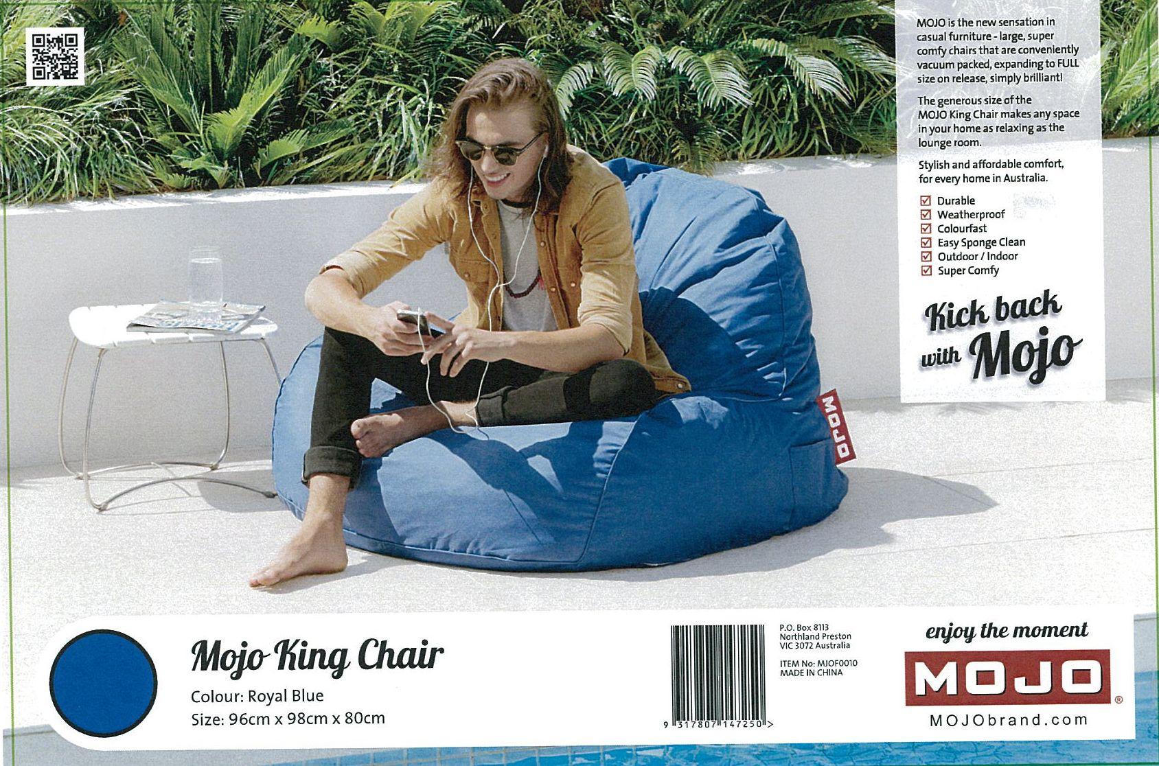 Cushion Outdoor Mojo King Chair Royal Blue Mjof0010