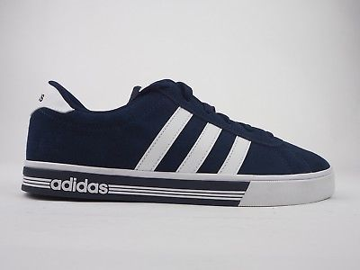 the latest 0fa51 90507 Mens Adidas Daily Team Nubuck Suede Shoes Navy White Lace Up Casual Trainers