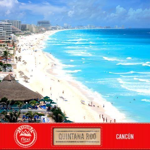 TourFlexi continúa su recorrido por las playas de México y hace su parada en uno de los principales destinos del caribe mexicano: Cancún, la entrada al mundo Maya y el destino favorito de viajeros internacionales.  ¿A dónde piensas salir estas vacaciones?. #QuintanaRoo #Cancun  #TourFlexi [Imagen: Price Travel]
