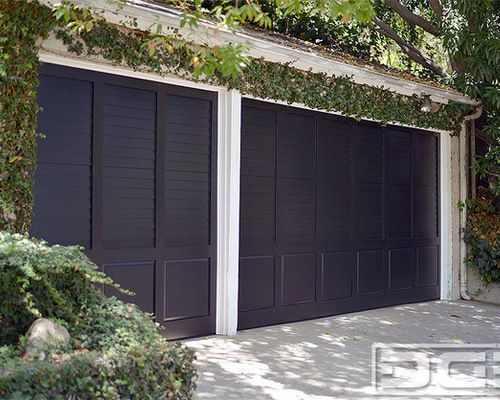 Plantation Shutter Style Garage Door 3 Ideas For The House