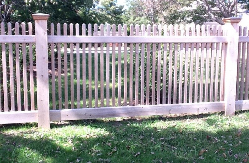 48 Inch Unpainted Picket Fence In Darien Ct Installed By