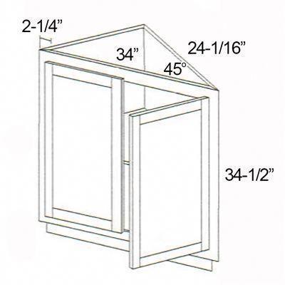 45 Degree outside corner cabinet #remodelhome | Kitchen ...