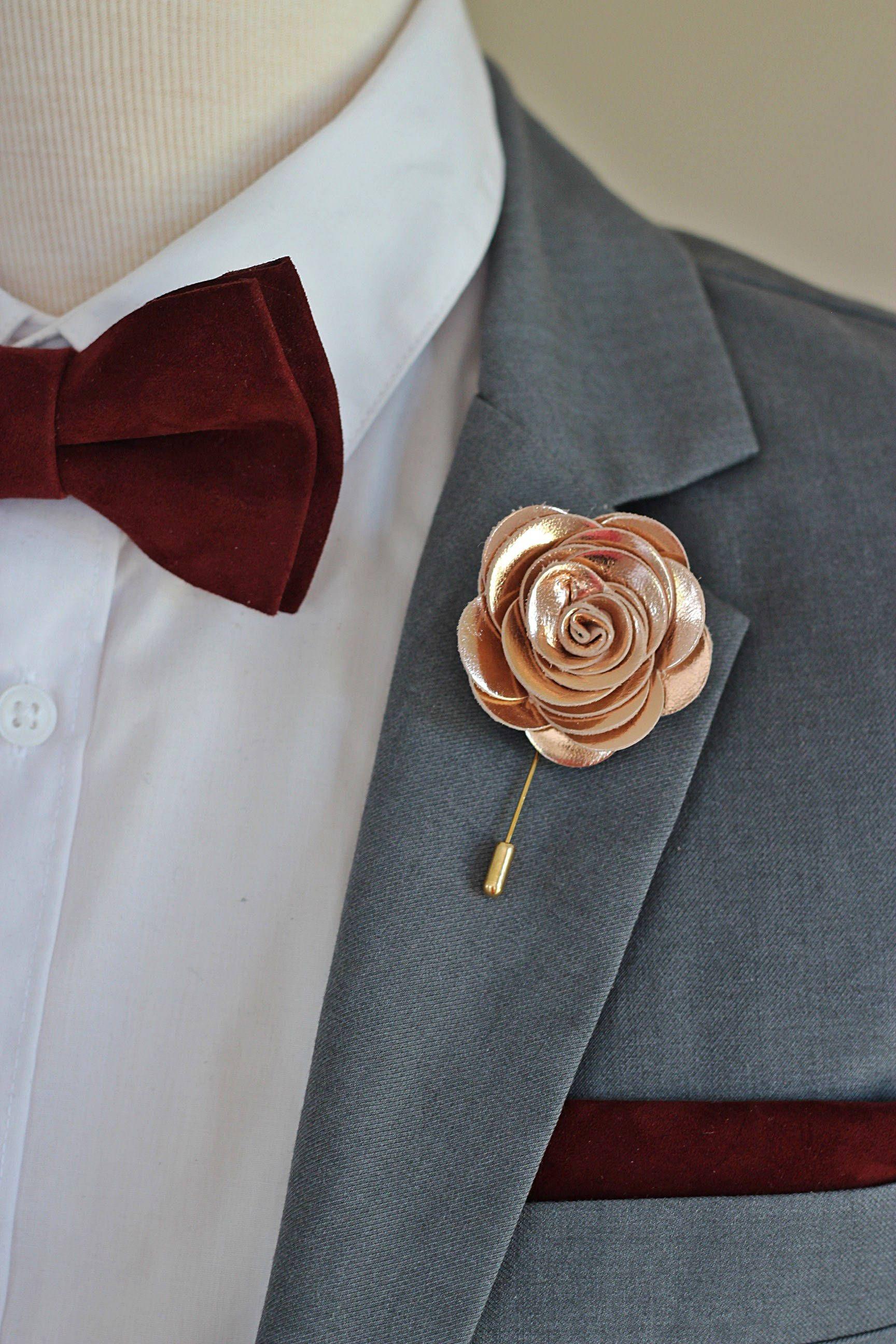 Slim tie - Flowers & leafs in blue, brown & gold on burgundy Notch