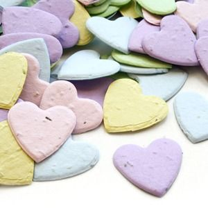Heart Shaped Plantable Seed Confetti - MULTICOLORED, heart confetti, eco friendly favors, eco friendly wedding, plantable favors, wedding toss ideas, heart confetti flower seed favors