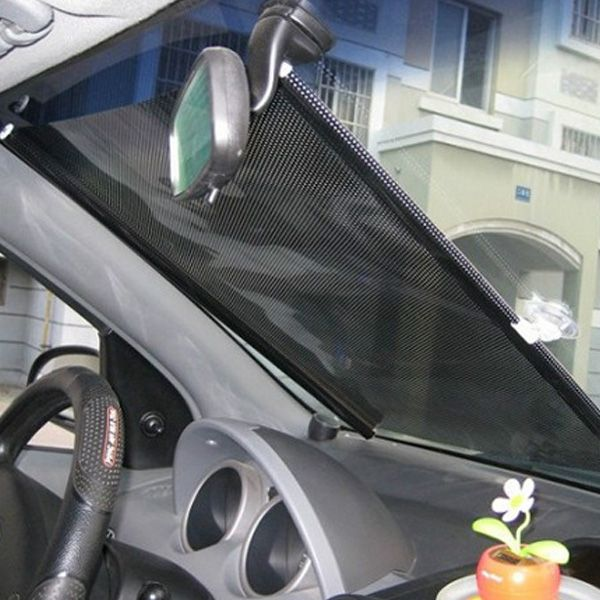 Car Side Rear Window Sun Shade Visor Roller Blind Screen