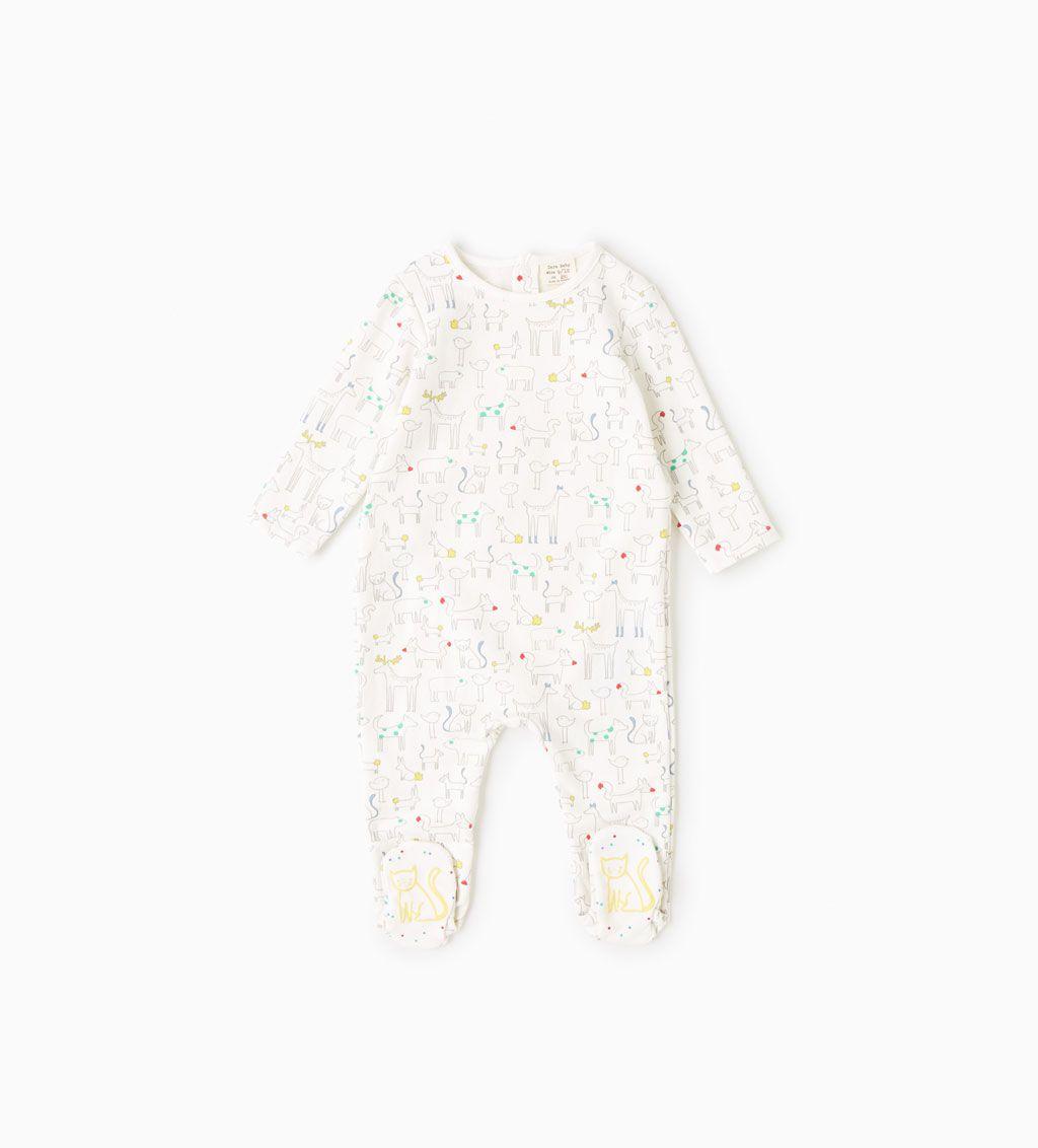 Organic Cotton Animals Pajamas Pyjamas Bodysuits And Bibs Baby Boy 3 Months 4 Years Kids Zara Spain Pojke