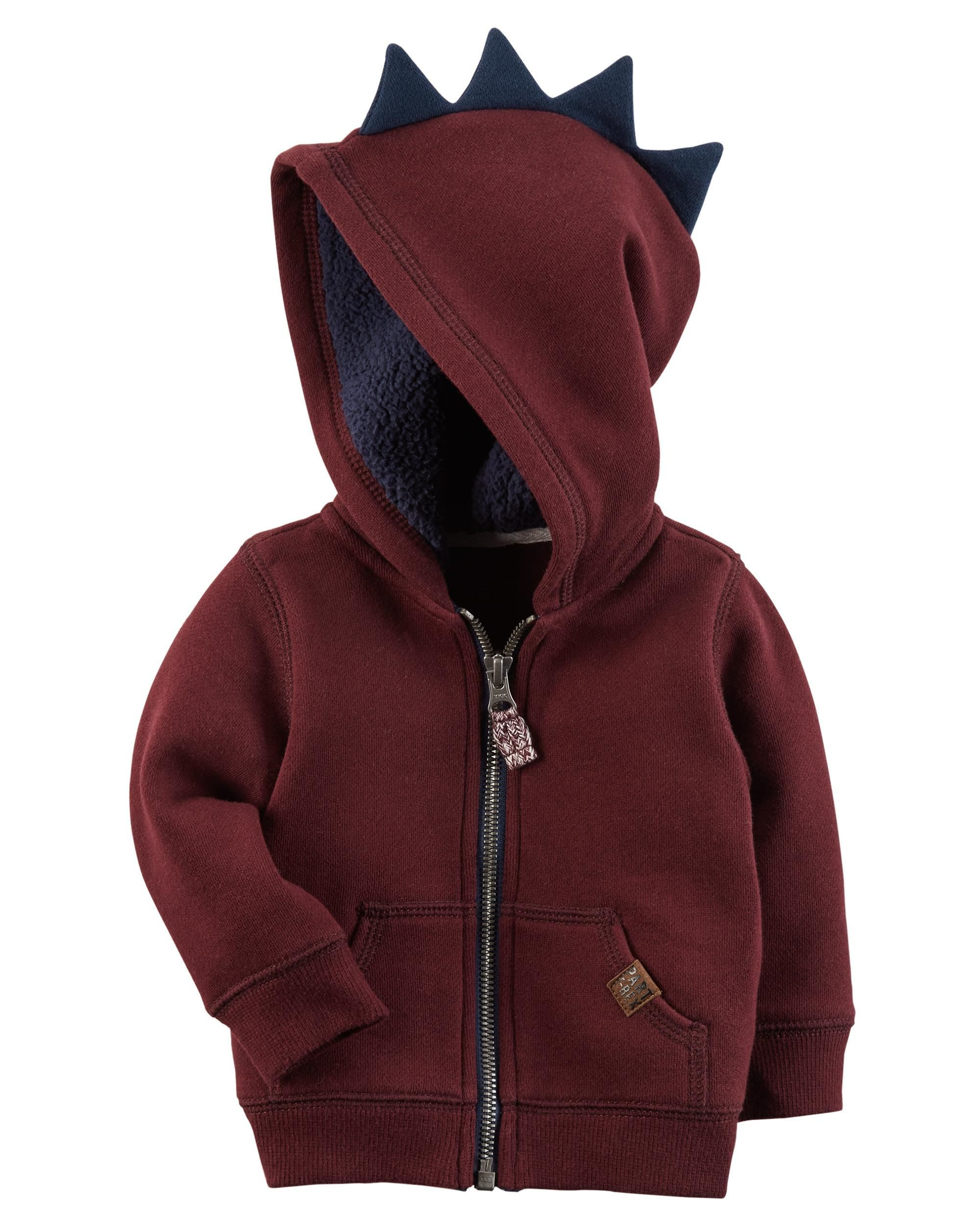 Zipup spike fleece hoodie fleece hoodie zip and babies