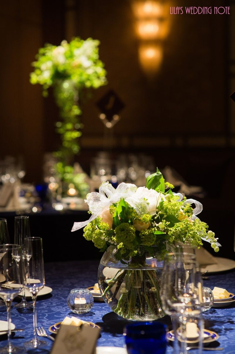 Wedding Report 装花 テーブルコーディネート 結婚式 テーブルコーディネート シンプル テーブルコーディネート 結婚式 披露宴 テーブルコーディネート