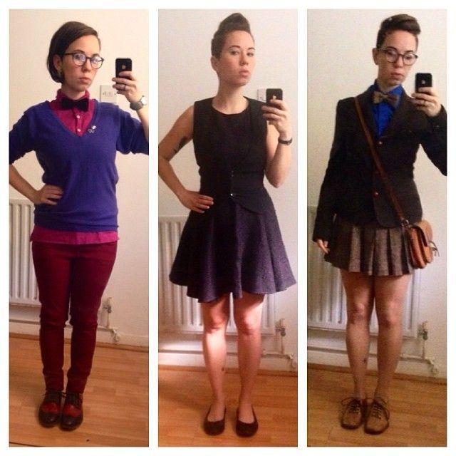 When summer attempts to happen #summer #dapperq #bowtie #bowtiefly #femme #ootd #wiwt #londonpride #undercut #goodhairday #selfie #mirrorselfie #WhatLLworeToday