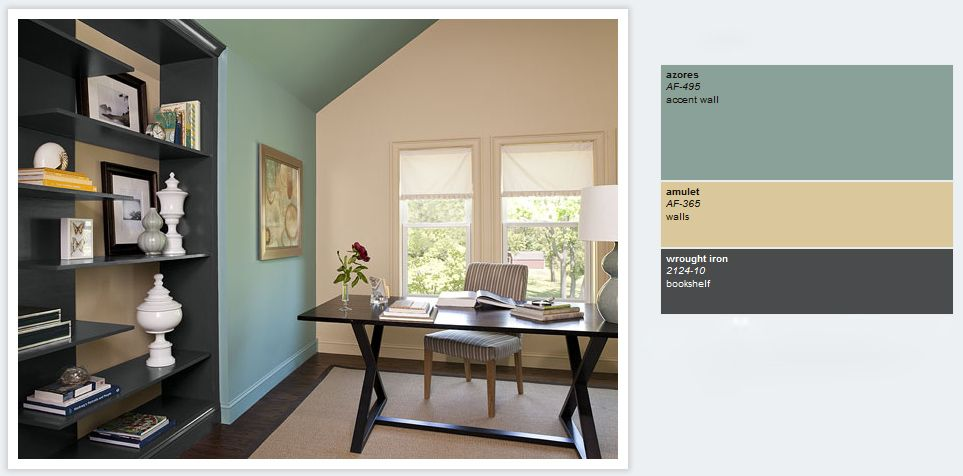 my 2012 diy list green home offices blue home offices on best home office paint colors id=24220