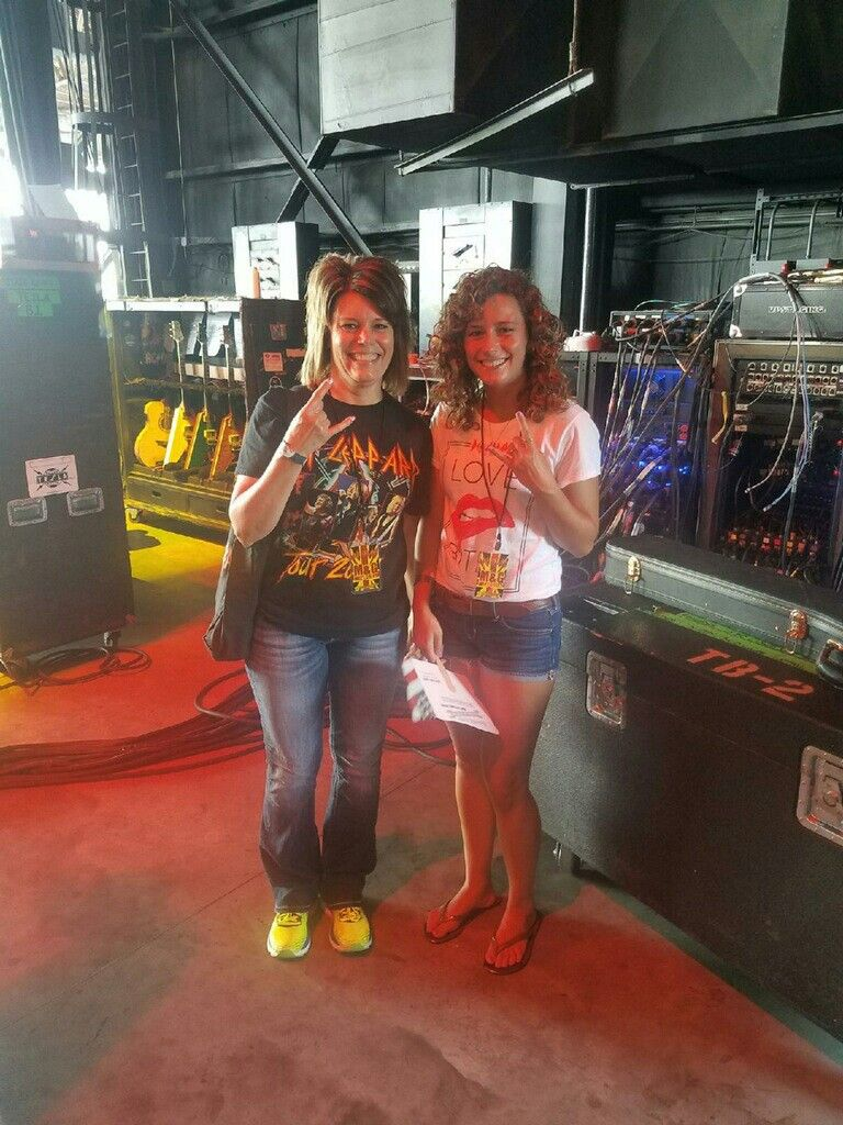 Me And My Daughter Backstage At St Louis Def Leppard Concert