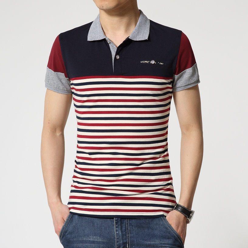 Factory direct sale polo Shirt For Men's 2016 Summer Fashion stripe polo  Shirt Men Casual Men's