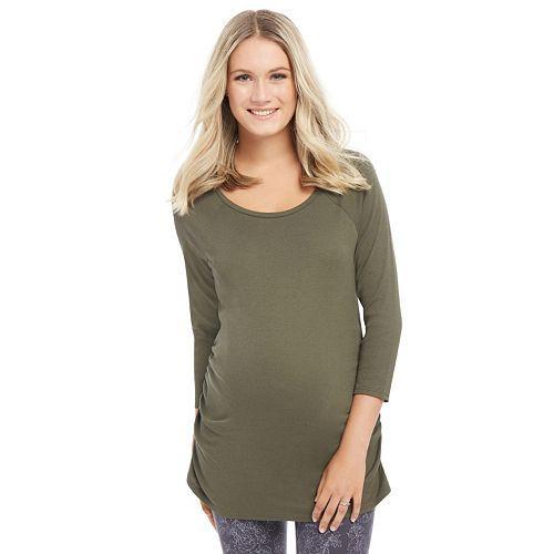 Maternity Oh Baby by Motherhood™ Ruched Raglan Tee