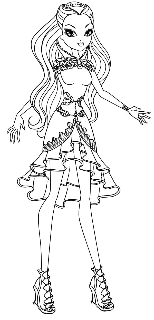 Beautiful Raven Queen Ever After High Coloring Pages Download Print Online Coloring Pages For F Coloring Pages Barbie Coloring Pages Monster Coloring Pages
