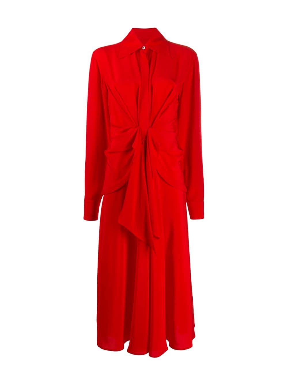 Victoria Beckham Tie Waist Shirt Dress Victoriabeckham Cloth Red Shirt Dress Tie Waist Shirt Dress Dresses [ 1333 x 1000 Pixel ]
