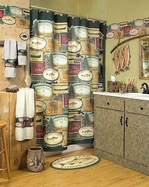 Rather Be Fishing Shower Curtain Collection With Images