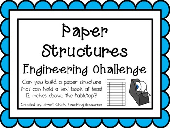 Engineering Challenge Can You Build A Paper Structure That Can Hold A Text Book At Least 12 Inches Above Paper Structure Engineering Challenge Stem Activities