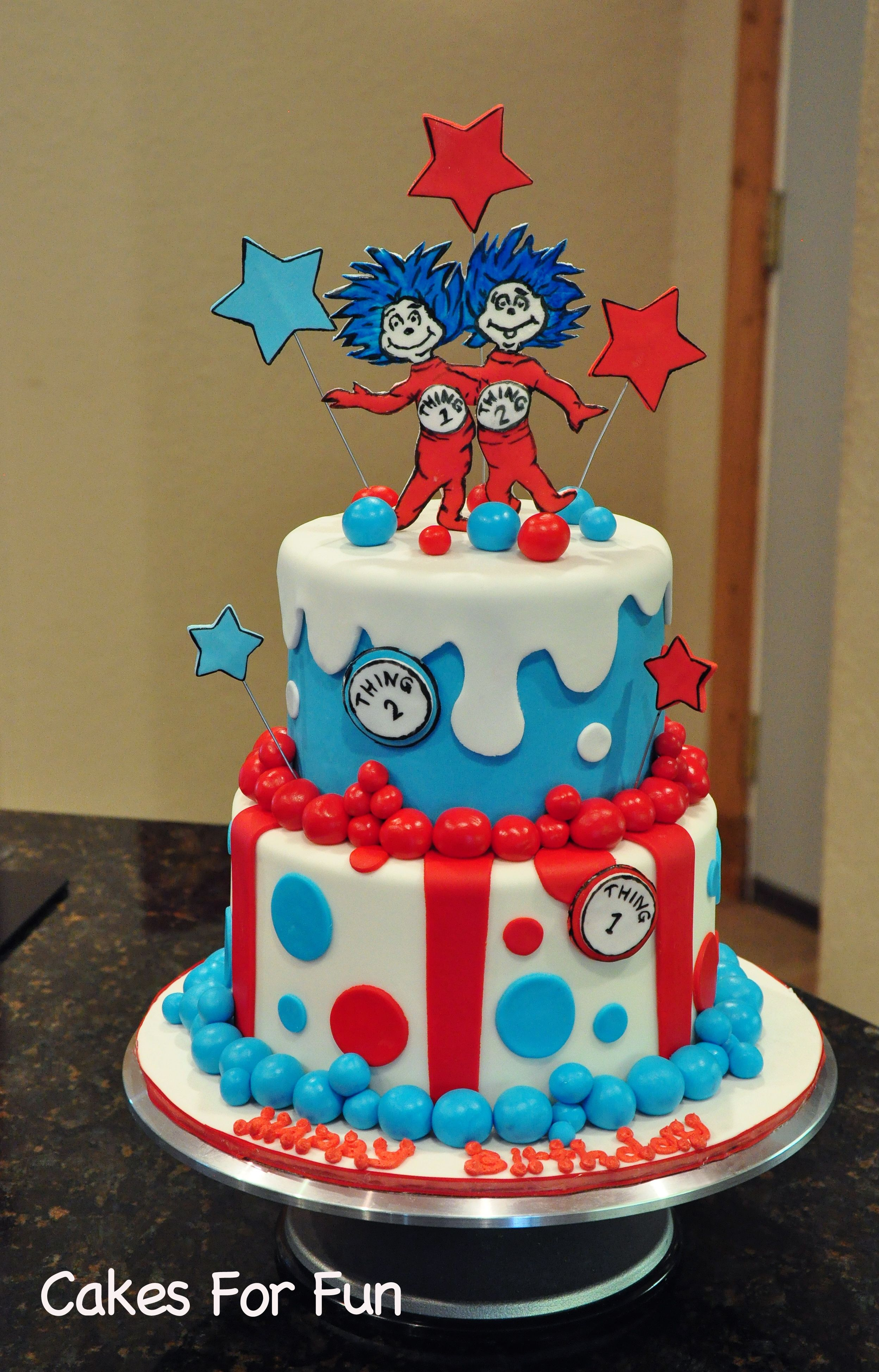 thing one and thing two birthday cake Google Search Dr Seuss
