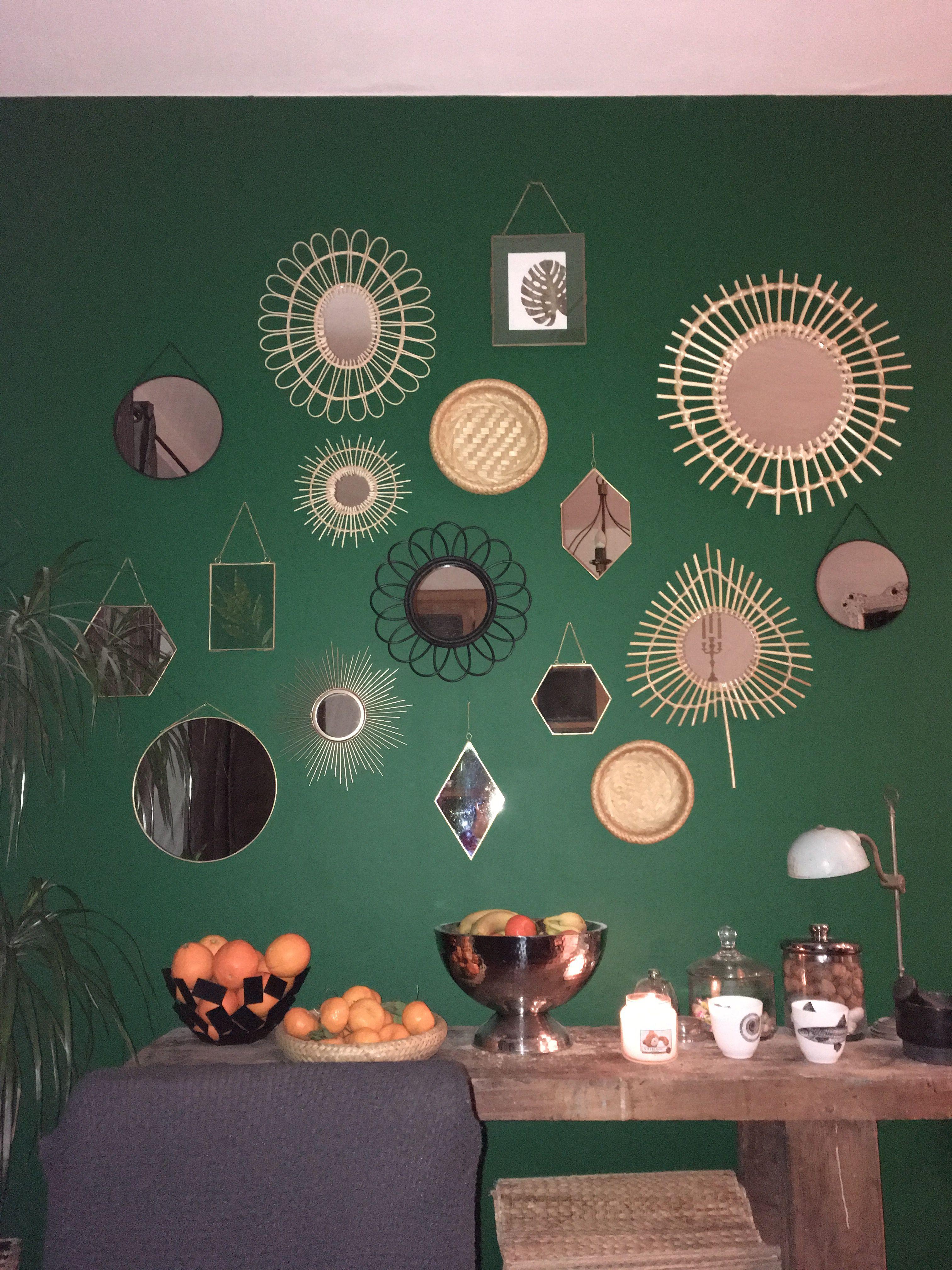 Accumulation De Miroirs En Rotin Et Metalliques Ajout De Plats En Paille Shopping Maison Du Monde Cyrillus Lero Miroir En Rotin Leroy Merlin Miroir Deco
