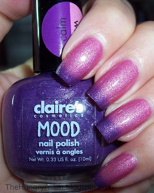 I Was About To Chop My Nails Off When Realized Saving A Of Mood Polishes For This Am Wearing 2 Coats With Sally Hansen