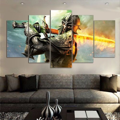 Dragon Age Inquisition 5pcs Painting Printed Canvas Wall