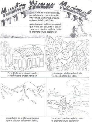 Resultado de imagen para himno nacional de chile para colorear ...