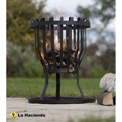 View the La Hacienda Alberta Black Steel Firebasket £22