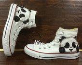 Panda chucks | Pandagasm | Painted shoes, Converse, Painted
