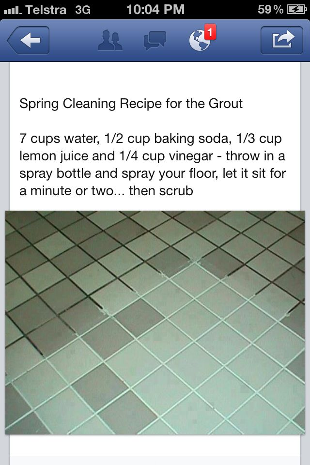 Grout cleaning recipe - Works good for dirty floors but will not kill the  black mildew/mold in the shower. For the black mildew/mold in the shower  use paper ...