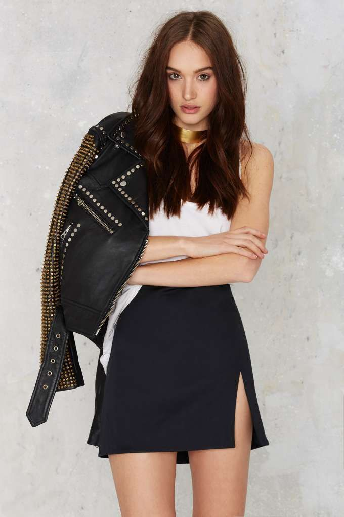 Nasty Gal Slit or Miss Mini Skirt - Clothes | Best Sellers ...