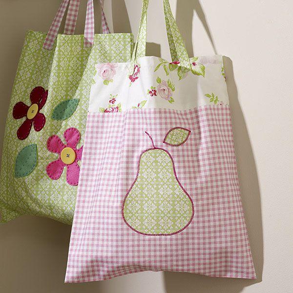 Hermosas bolsas en tela manualidades en tela pinterest - Bolsas de tela manualidades ...
