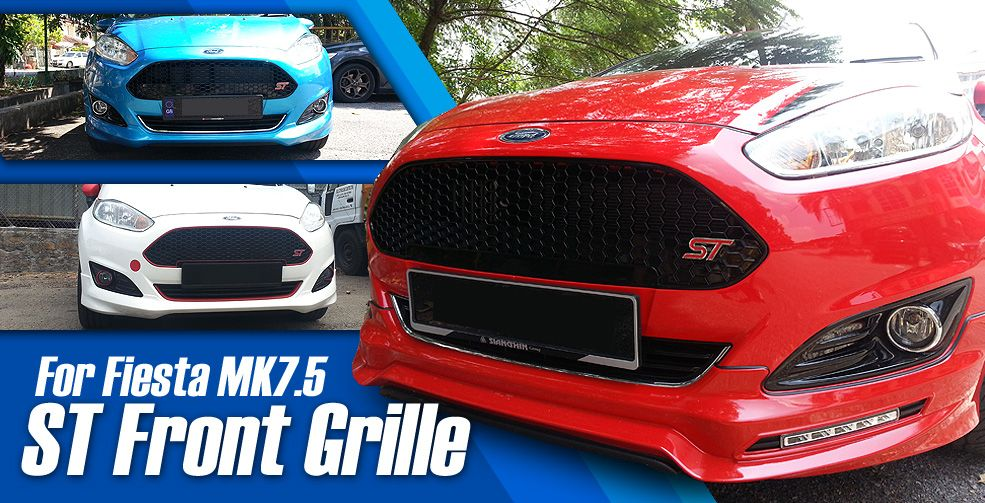St Style Honeycomb Front Grille Ford Fiesta Bumper Trim Ford