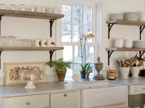 open shelving in the kitchen instead of upper cabinets on kitchen shelves instead of cabinets id=91194