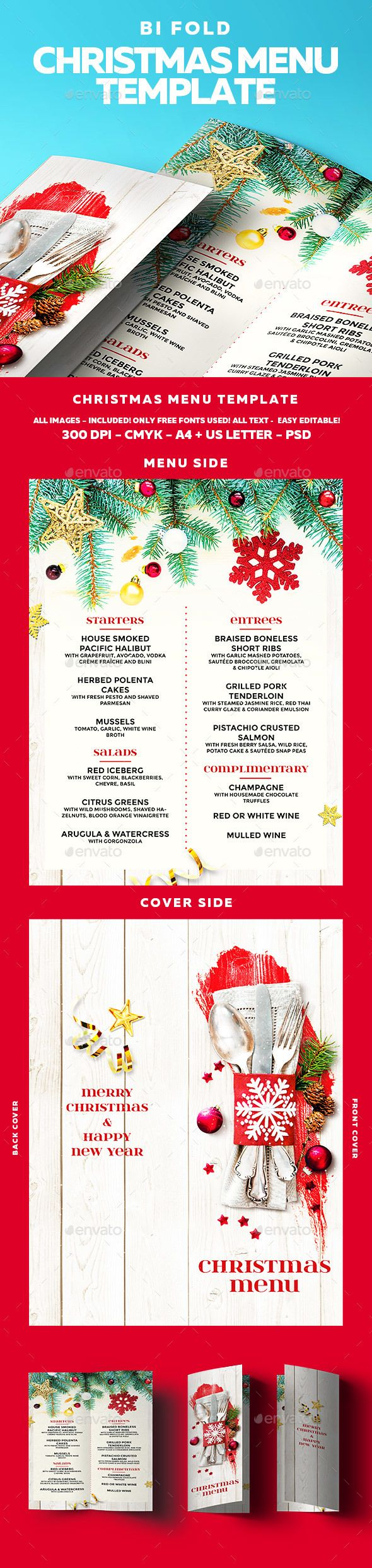 Christmas Menu Pinterest Menu Psd Templates And Print Templates