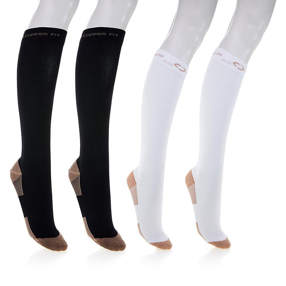 25f6dd71e Copper Fit™ Knee-High Compression Socks 4-pack - Black - Large Xlarge