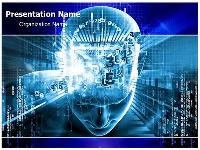 Digital Brain PowerPoint Presentation Template is one of the best - Science Powerpoint Template