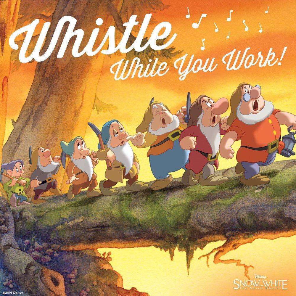 Whistle while you work / Snow White | Snow white disney, Seven dwarfs,  Quotes disney