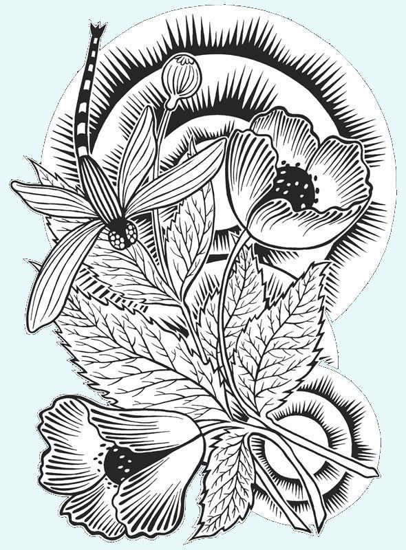 Japanese Dragon Tattoo Coloring Page Color Me Crazy