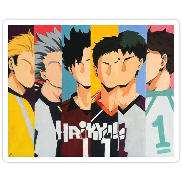 Haikyuu Captains Painting Sticker