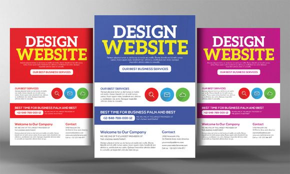 Website Design Agency Flyer Template by Business Templates on - web flyer template