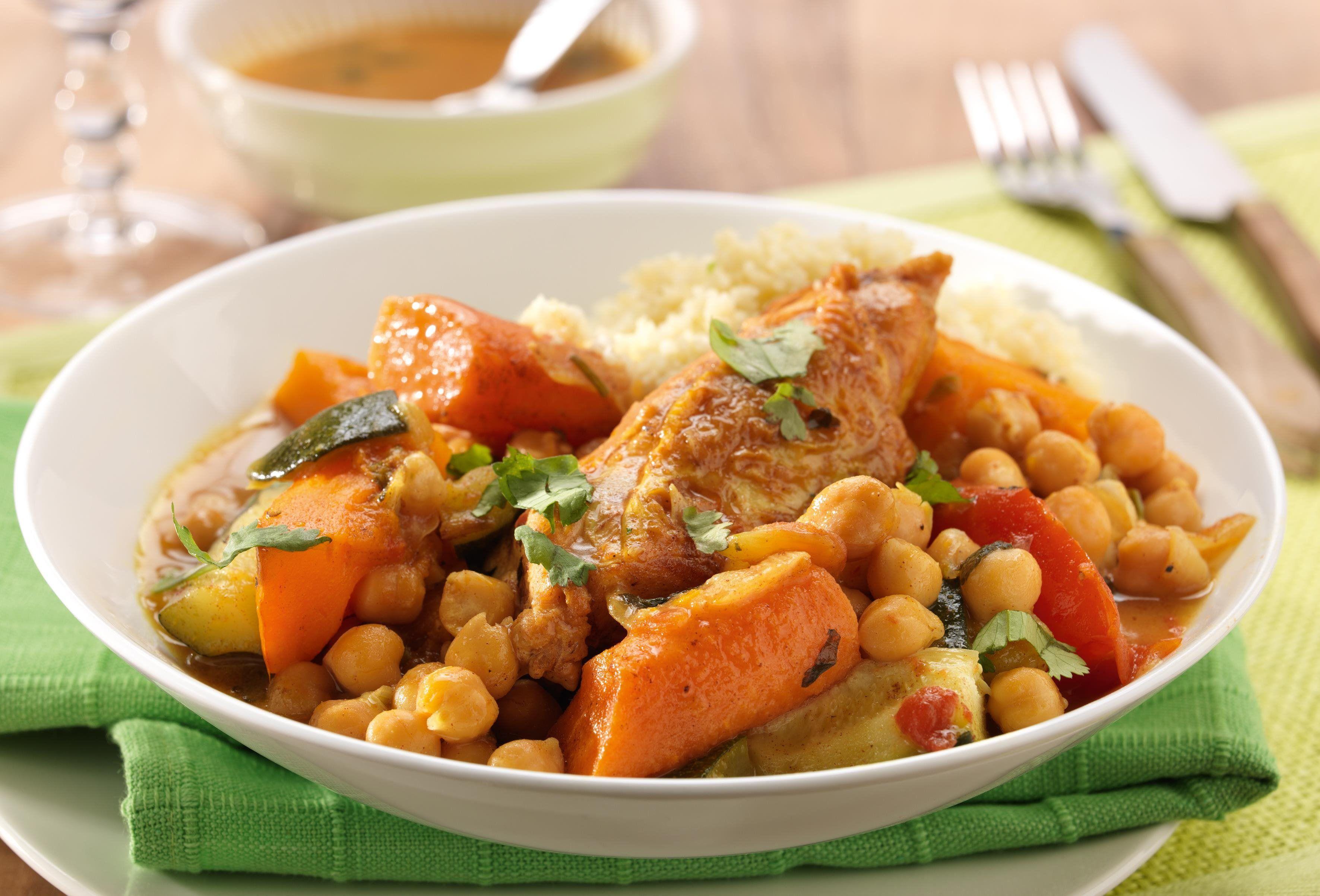 Couscous De Poulet Aux Legumes Recette En 2018 Recettes Ww